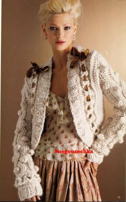 Вязание на спицах Knitting.  Болеро, шраги * Bolero.  Предыдущая.