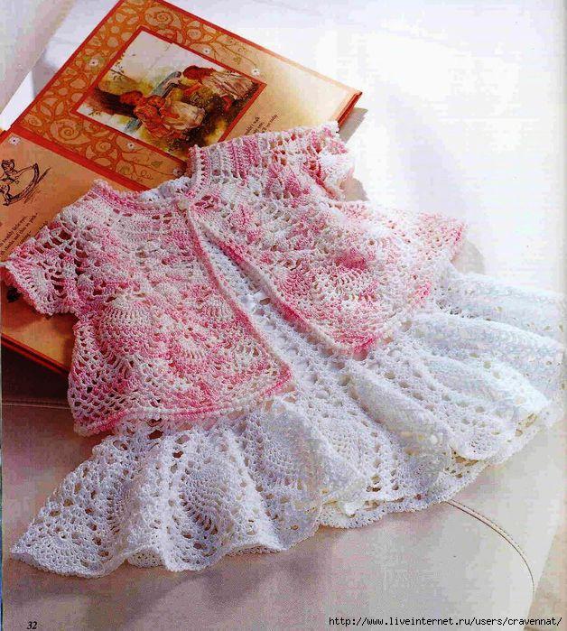 Что вязаная крючком юбка очень нарядная и праздничная, что кофточка ей под...