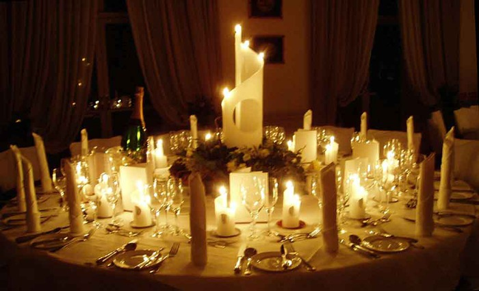 candle decoration inspirations for wedding wedding