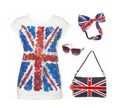 просто картинки с британским флагом, любые вещи, сережки .