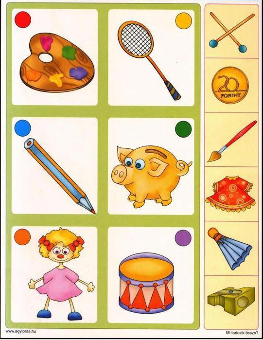 Картинки Задания На Логику И Мышление Для Детей 4-5 Лет