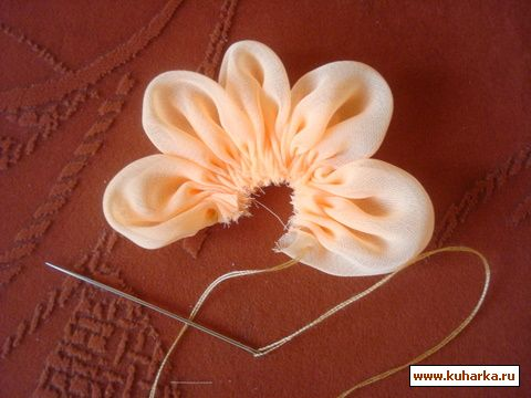 Как сделать цветок ткани своими руками
