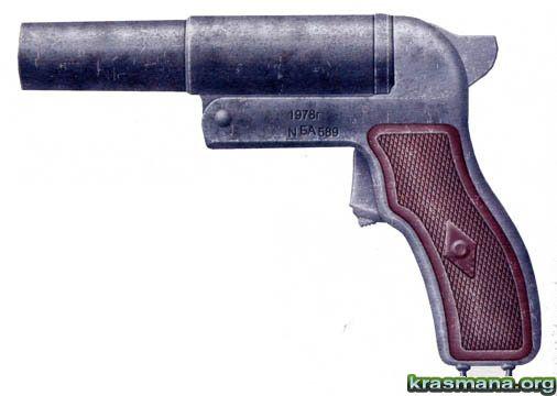 Сигнальный пистолет прост по...  Пистолет разработан известным советским...
