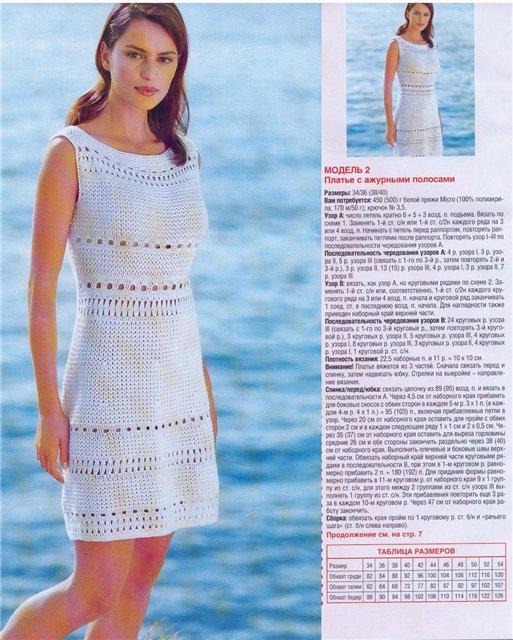 Как связать летнее платье спицами