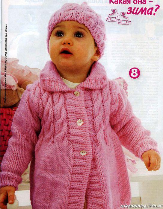 Схемы вязания пальто для