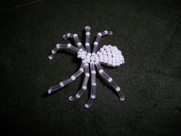 Схемы паучка из бисера