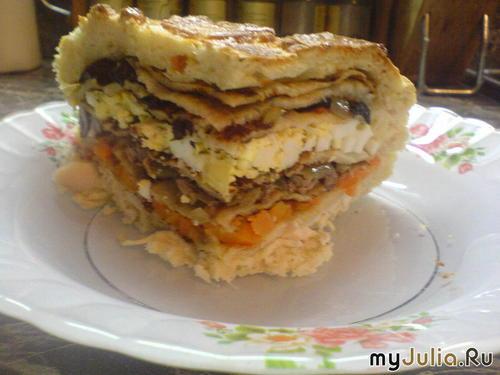 Свадебный простой пирог-курник рецепт приготовления.