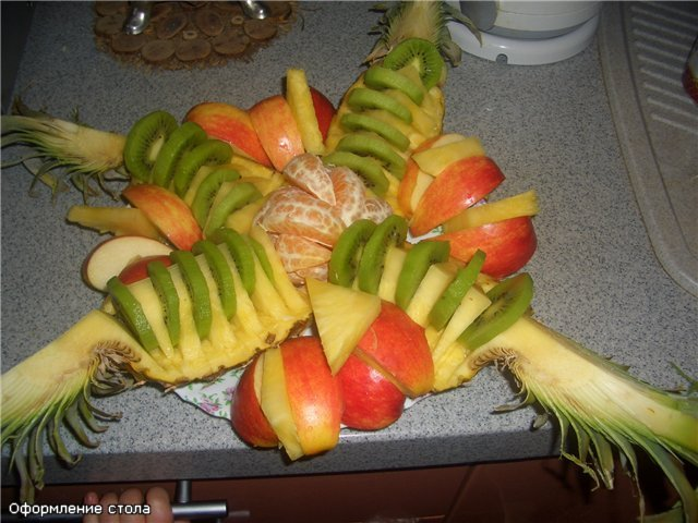 Украшение стола фруктами фото.
