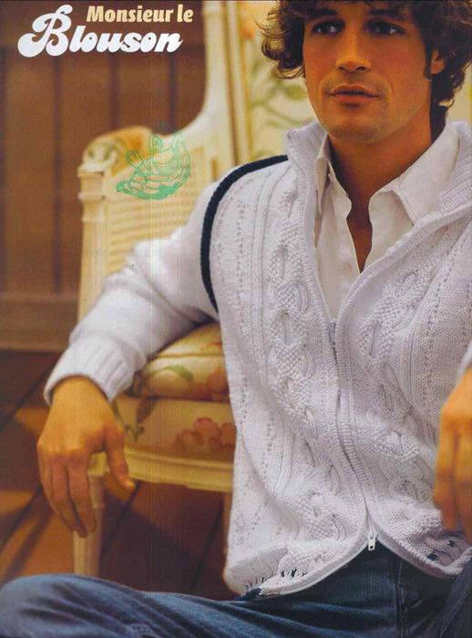 В свой цитатник или сообщество!  Вязание для мужчин/жакеты.