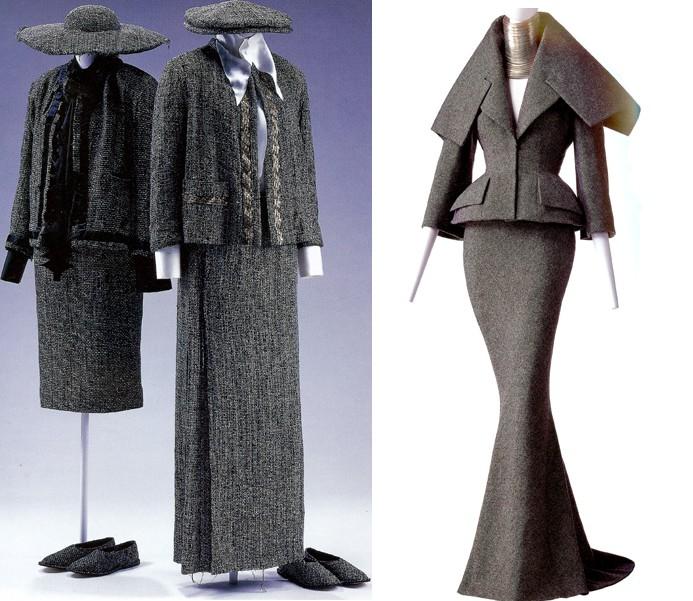 Шёлк, твид, шерсть, костюмы и платья - женщина в сером Диора всегда...