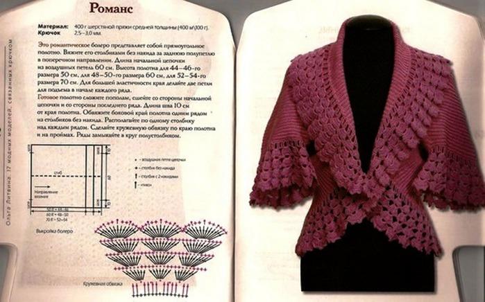 Вязание спицами для женщин одним полотном