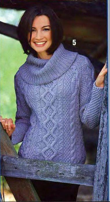 """На нашем женском сайте  """"Дамочка """" Вы в любое время найдете публикацию - вязание спицами женские свитера схеми..."""