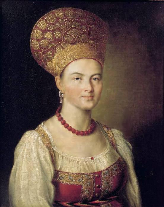 Аргунов Иван Петрович_Портрет неизвестной крестьянки в русском костюме.