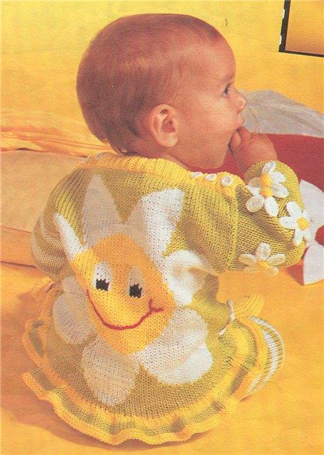 вязание на спицах детской кофты рисунки и схемы к ним.