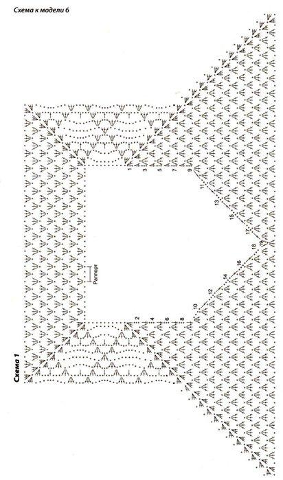 Вязание крючком сверху жакетов 735