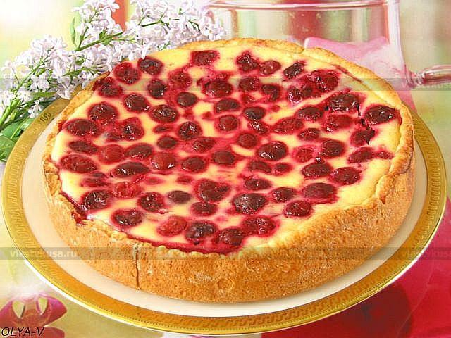 Сметанный пирог с ягодами рецепт