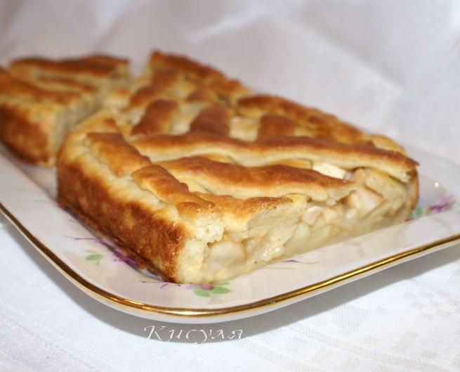Сдобный яблочный пирог рецепт с фото