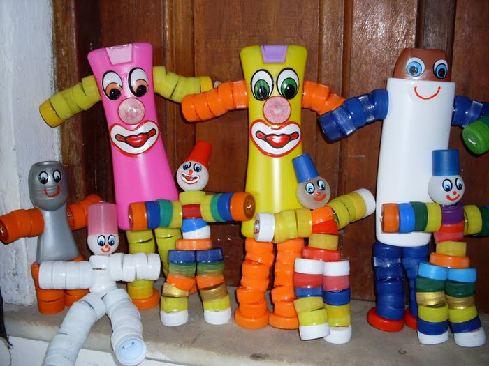 Поделка из пластика для детей 27