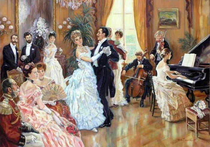 Учителя танцев видели в вальсе угрозу их профессии.  Основные шаги в вальсе можно было выучить в относительно...