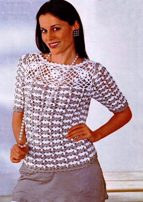 Летняя кофточка вязаная крючком и спицами. платье для полных выкройка.