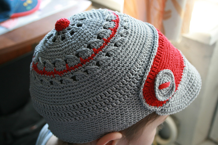 Детские вязаные аксессуары модная вязаная кепка - Модели вязания для детей.
