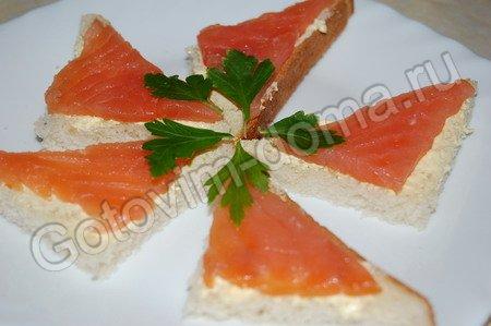 рецепт Бутерброд с красной рыбой классический // рецепты с фотографиями.