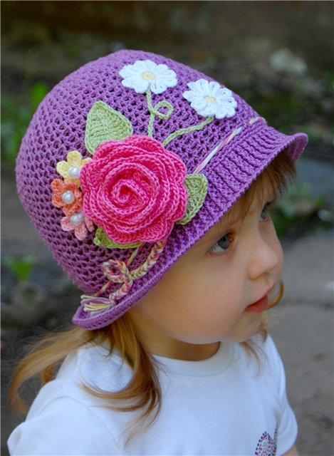 Вязаные шапки, береты, косынки