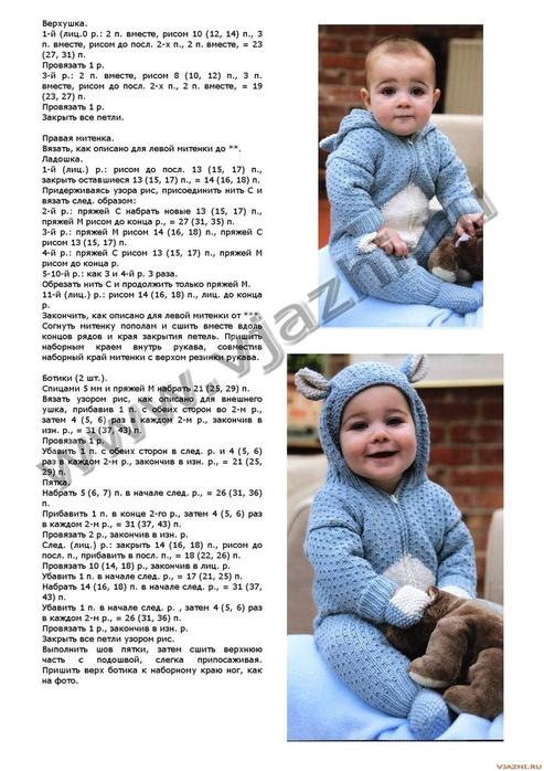 Вязание для новорожденных комбинезоны спицами схемы