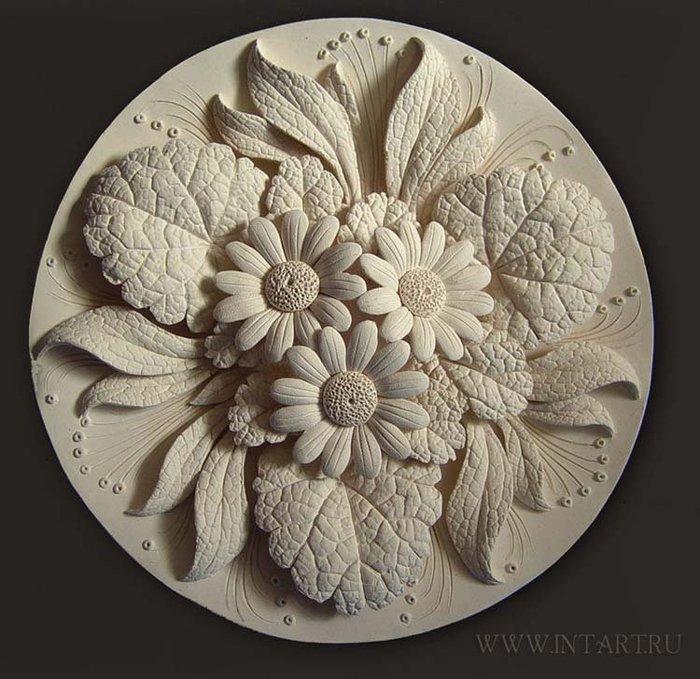 Цветы из теста соленого своими руками фото