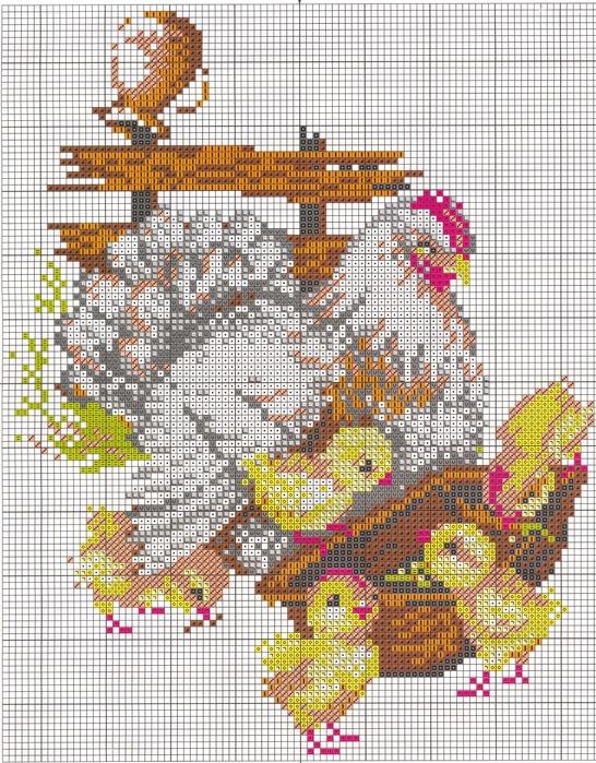 Среда, 26 Мая 2010 г. 10:44.  Нравится Поделиться.  Метки. схема курица.  Вышивка крестом - схемы.