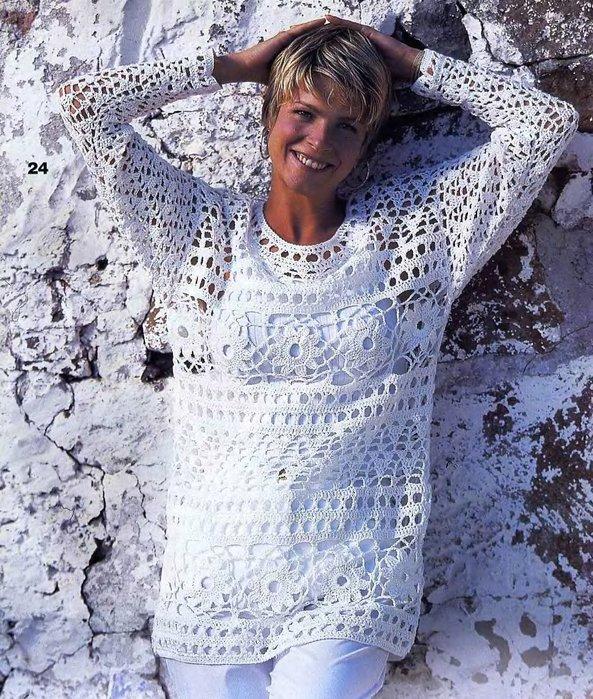 Модные вязаные свитера спицами со схемами 2017