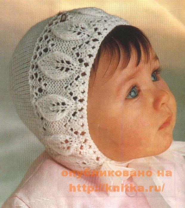 схема вязания шапочки с ушками для девочки до года.