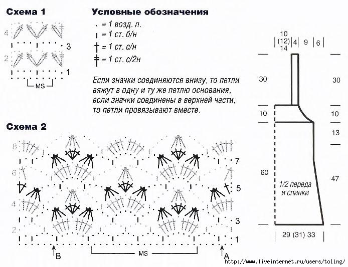 Вам потребуется: 550 (600) 650 г бежевой пряжи Oase (60% вискозы, 40% полиакрила, 95м/50г); крючки 3,5 и 4.