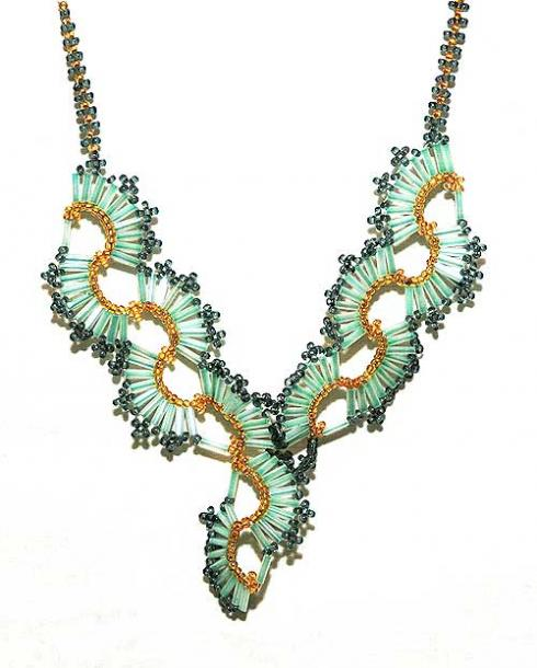 ожерелье из бисера схемы - Интересные полезности.