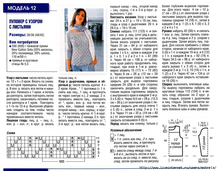 Вязание полуверов свитеров для женщин