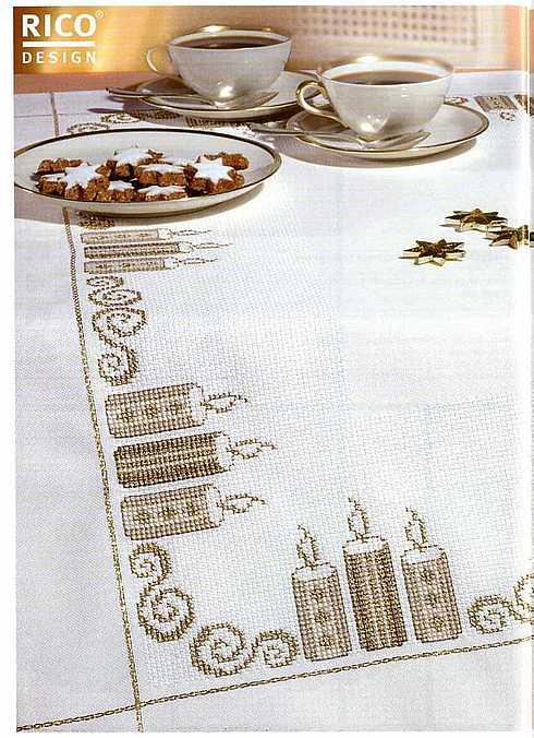 Новогодние салфетки вышивка крестом.  Вышивка крестиком - Домашний уют.