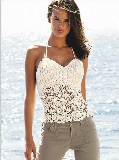 Вязанные блузки летние