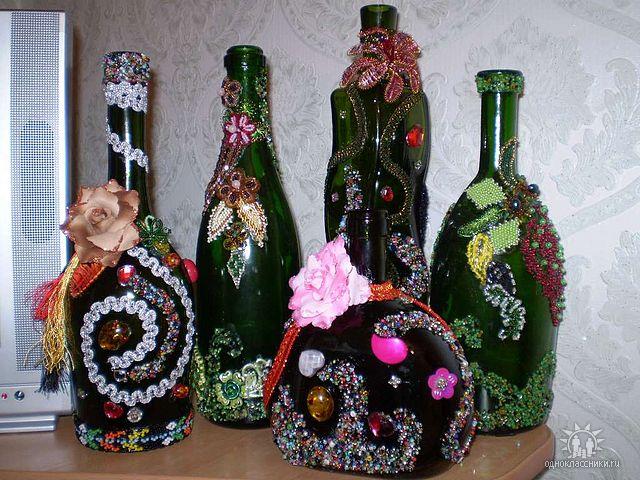 biser.info. как украсить бутылку своими руками.