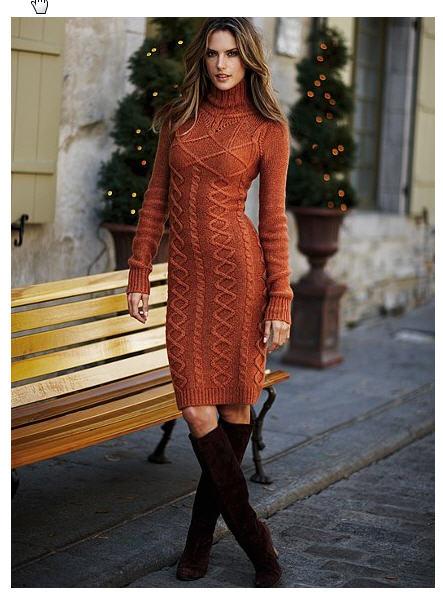 Вязаное платье спицами схемы