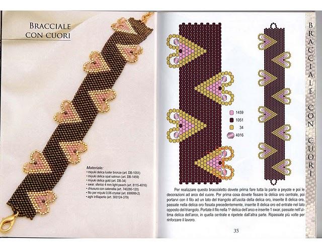 Схемы. браслет. бежевый. плетение мозаичное. пт, 14/01/2011 - 19...