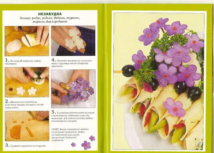украшения из овощей пошаговое фото