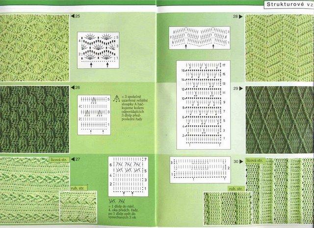 плотные узоры спицами со схемами мастер-классы