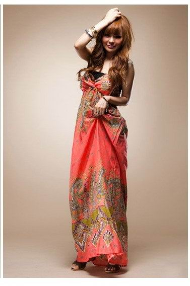 Длинное платье красного фото.