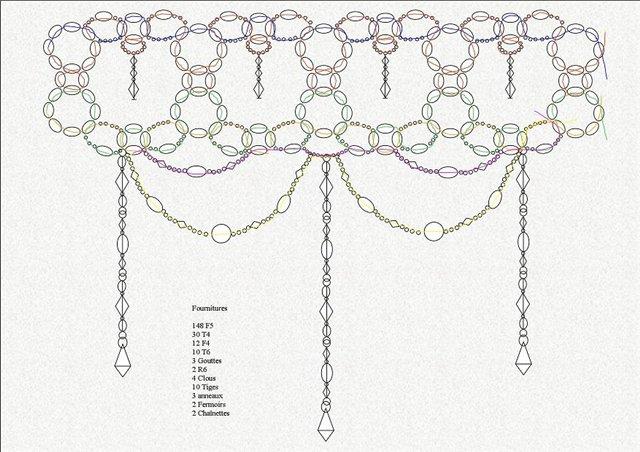 плетение из бисера схемы и инструкции колье - Ппланета схем.