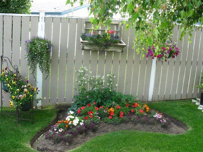 Изгородь для цветов фото