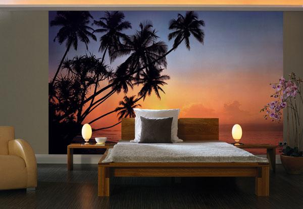 Фотообои в интерьере - Tropical Sunset - природа - море - 8-панельные.