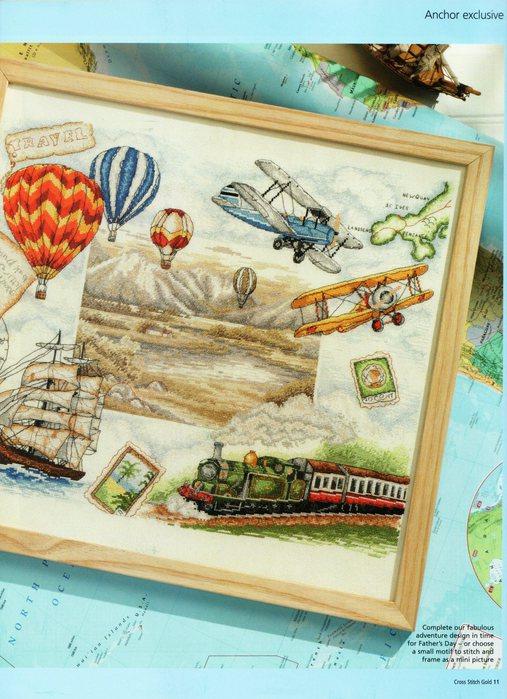 Схема вышивки путешественники