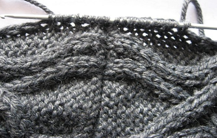Вязание края рукава