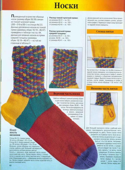 Вязание пятки способом бумеранг » Петля - вязание 71