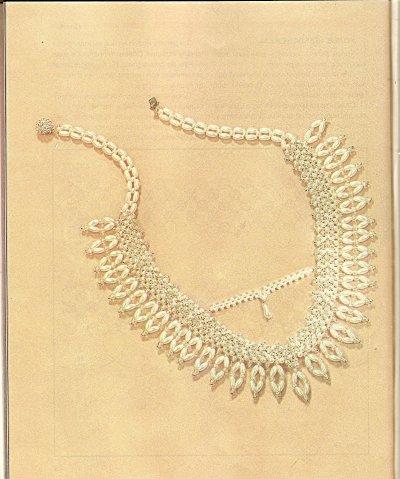 Ожерелье и серьги, выполненные из бисера, серьги схемы.